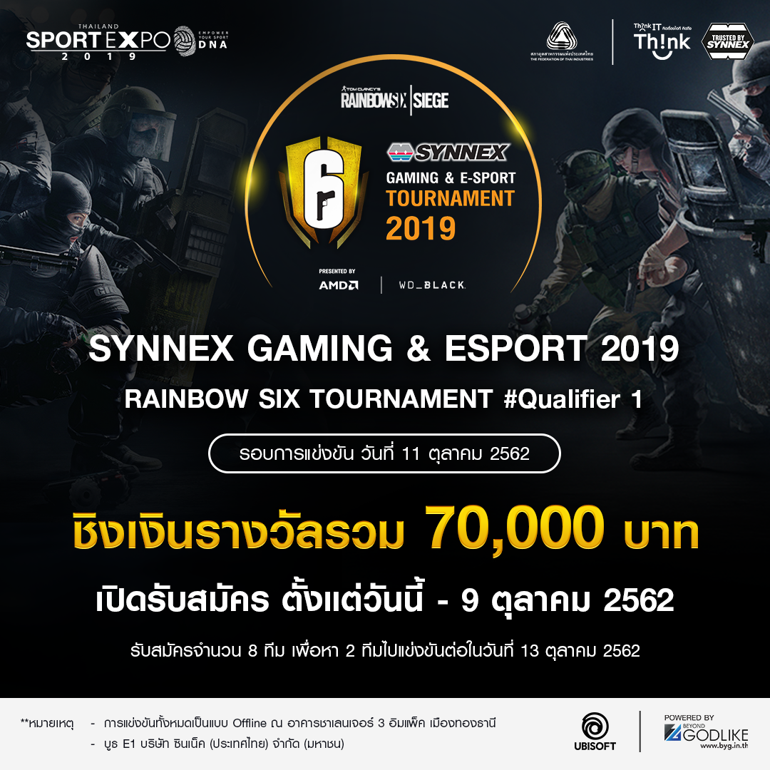 SYNNEX GAMING & ESPORT 2019 Rainbow Six Tournament #Qualifier 1