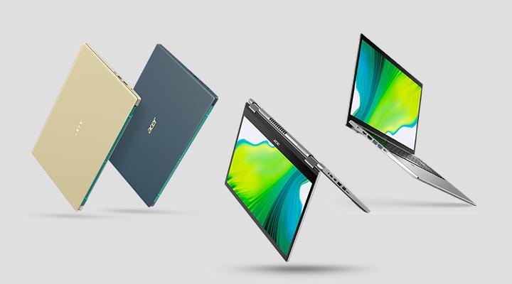 Acer ประกาศไลน์อัพล่าสุดของผลิตภัณฑ์โน้ตบุ๊กสายคอนซูมเมอร์ในตระกูล Acer Swift, Spin และ Aspire