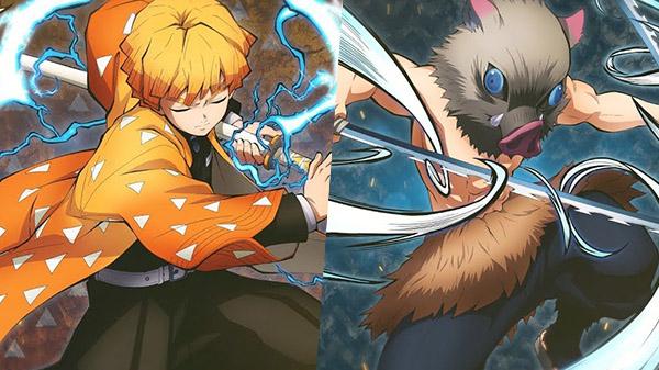 วิดีโอตัวอย่างใหม่โชว์เกมเพลย์ตัวละคร  Zenitsu และ Inosuke จากเกม Demon Slayer: Kimetsu no Yaiba – Hinokami Keppuutan