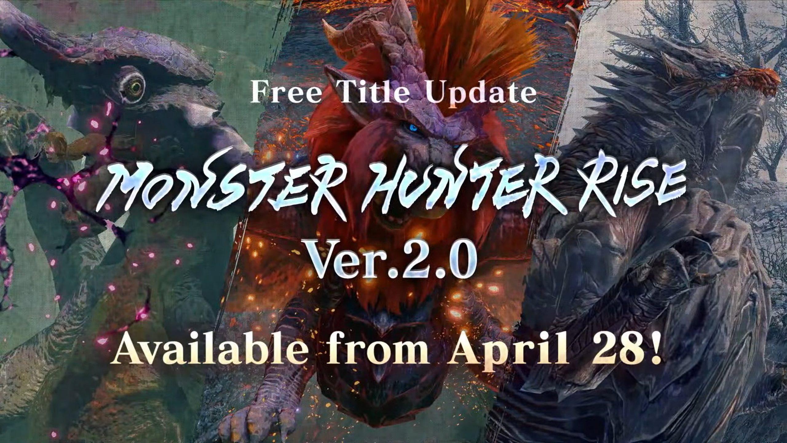 Monster Hunter Rise อัปเดตตัวเกมเวอร์ชัน 2.0 เตรียมเพิ่มมอนสเตอร์ใหม่ๆ ระบบปรับแต่งชุดเกราะ และอื่น ๆ อีกมากมายในวันนี้!