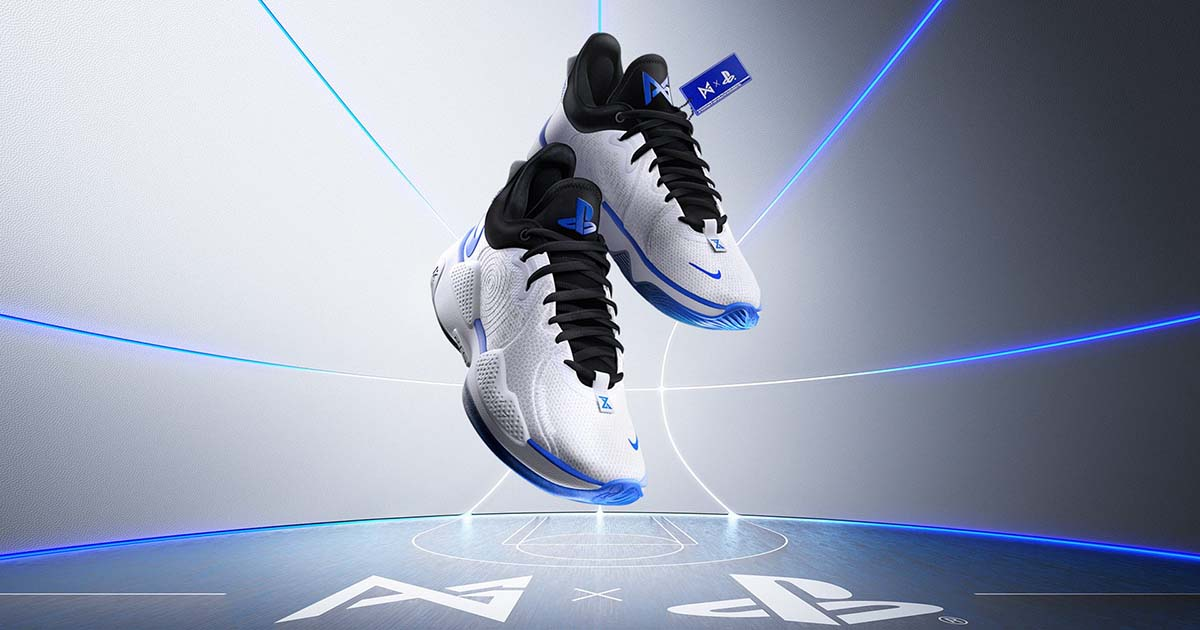 "Sony ร่วมมือกับ Nike ออกรองเท้าซีรีส์ Paul George ใหม่ภายใต้ชื่อรุ่น ""Nike PG 5 PlayStation 5 Colorway"""